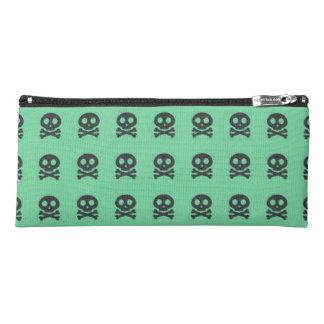 Retro Spaß-Grün-Schädel-Muster Stiftetasche
