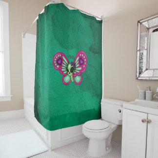 Retro Spaß-Zombie-Schmetterling Duschvorhang