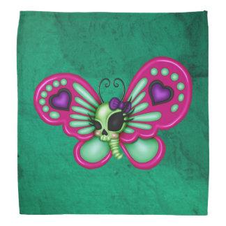 Retro Spaß-Zombie-Schmetterling Kopftuch