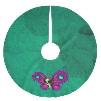 Retro Spaß-Zombie-Schmetterling Polyester Weihnachtsbaumdecke