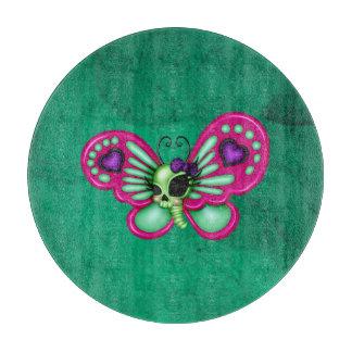 Retro Spaß-Zombie-Schmetterling Schneidebrett