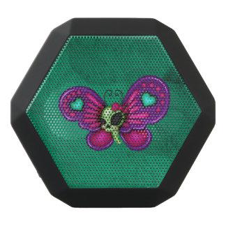 Retro Spaß-Zombie-Schmetterling Schwarze Bluetooth Lautsprecher