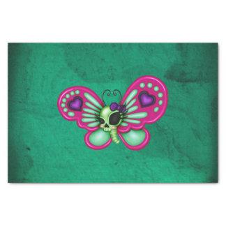 Retro Spaß-Zombie-Schmetterling Seidenpapier