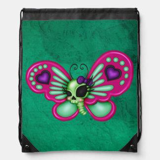 Retro Spaß-Zombie-Schmetterling Turnbeutel