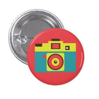 Retro Spielzeug-Kamera-(blauer) Flair-Knopf Runder Button 2,5 Cm