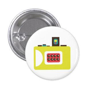 Retro Spielzeug-Kamera-(gelber) Flair-Knopf Runder Button 2,5 Cm