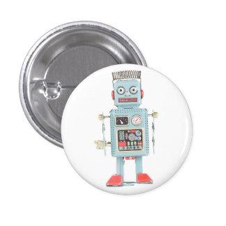 Retro Spielzeug-Roboter-Knopf Runder Button 3,2 Cm