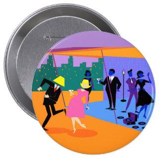 Retro städtischer Dachspitze-Party-Knopf Runder Button 10,2 Cm