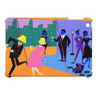 Retro städtisches Dachspitze-Party iPad Minifall iPad Mini Hülle