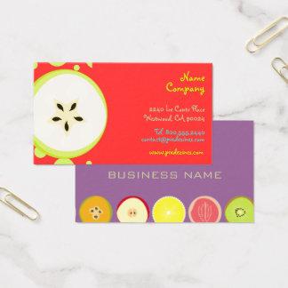 Retro Starfruit Entwurf/Bio Früchte Visitenkarte