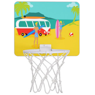 Retro Surfer-Paar-MiniBasketballkorb Mini Basketball Ring