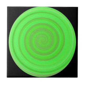 Retro Süßigkeits-Strudel im Limonen Grün Fliesen