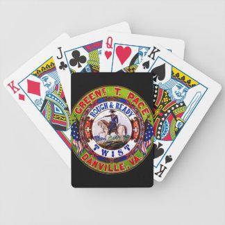Retro Tabak-Aufkleber 1855 Bicycle Spielkarten