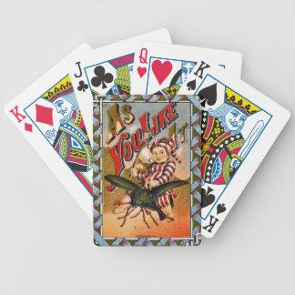 Retro Tabak-Aufkleber a 1869 Bicycle Spielkarten