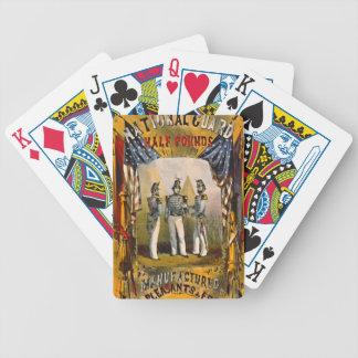 Retro Tabak-Aufkleber b 1857 Bicycle Spielkarten