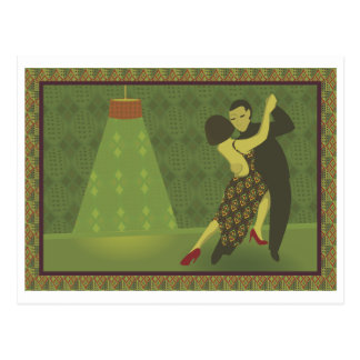Retro Tanz-Postkarte Postkarte
