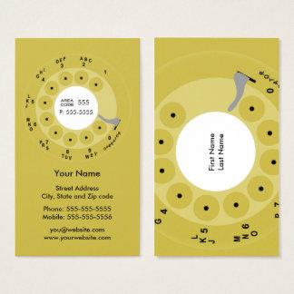 Retro Telefon-Gelb-Geschäft/Visitenkarte Visitenkarte