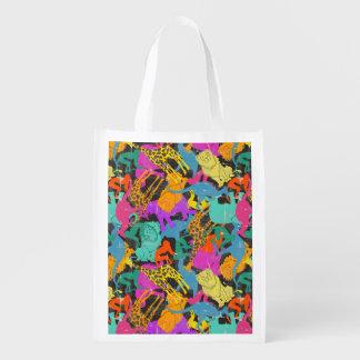 Retro TierSilhouette-Muster Wiederverwendbare Einkaufstasche