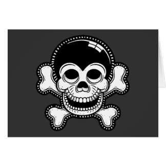 Retro Toon-Affe-Piraten-Schädel Karte