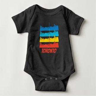 Retro Toronto Kanada Skyline-Pop-Kunst Baby Strampler