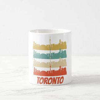 Retro Toronto Kanada Skyline-Pop-Kunst Kaffeetasse