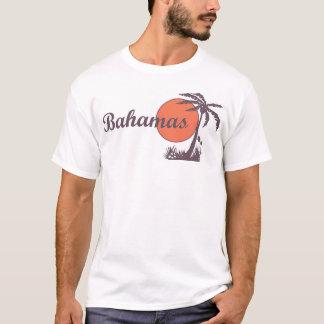 Retro touristisches Palmen-T-Stück Bahamas T-Shirt
