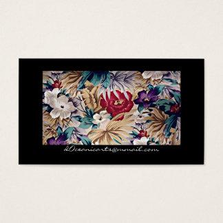Retro tropisches Blumen-Muster Visitenkarte