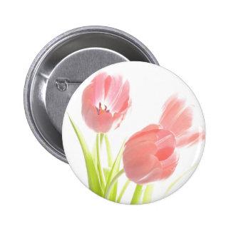 Retro Tulpe-Blume Knopf-Button Abzeichen Runder Button 5,1 Cm