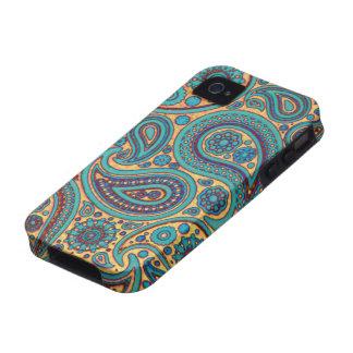 Retro Türkis Paisley Case-Mate iPhone 4 Hüllen