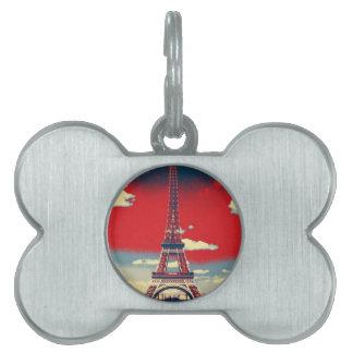Retro Turm Anzeige-Frankreichs Paris Effiel Tiermarke