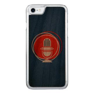Retro u. Vintages Entwurfs-Mikrofonmikrofon reco Carved iPhone 8/7 Hülle