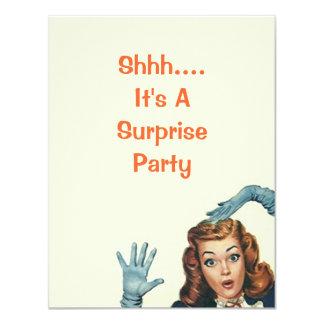 Retro Überraschungs-Party für irgendwelche 10,8 X 14 Cm Einladungskarte