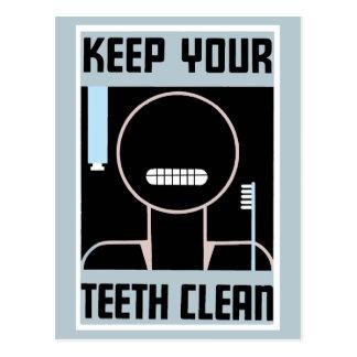 Retro unbedeutende Anzeige behalten Ihre Zähne Postkarten