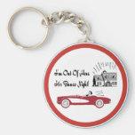 Retro und Vintages Bunco rotes Kabriolett Schlüsselanhänger