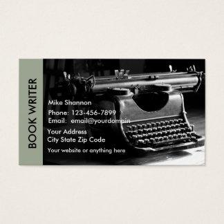 Retro Verfasser-Thema Visitenkarte