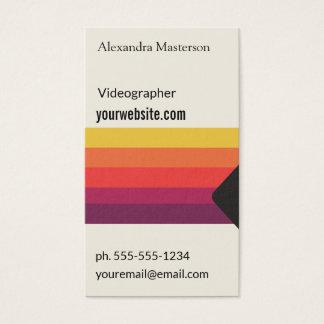 Retro Videoband VHSs für Videographers, Visitenkarte