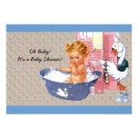 Retro Vierzigerjahre Baby-Dusche Einladungen