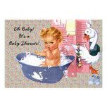 Retro Vierzigerjahre Baby-Dusche V2 Ankündigung