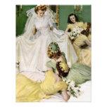 Retro Vierzigerjahre Brautparty Personalisierte Ankündigung