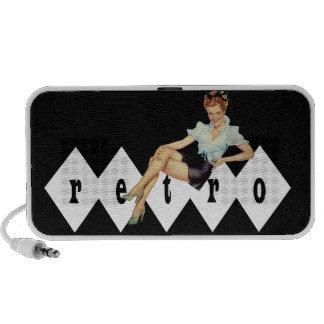 Retro Vierzigerjahre Button oben Lautsprecher