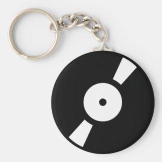 Retro vinly Aufzeichnung Schlüsselanhänger