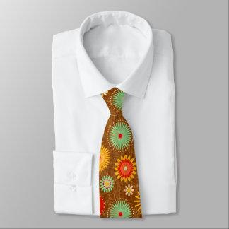 retro Vintage 50er-Blume kitche Muster-Krawatte Bedruckte Krawatte