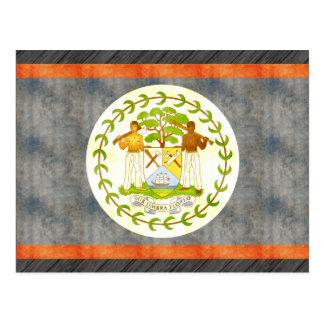 Retro Vintage Belize-Flagge Postkarte