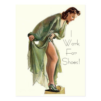 Retro Vintage Button-oben Schuhe, die ich für Postkarten