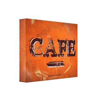 Retro Vintage Café-Leinwand-Drucke Gespannter Galerie Druck