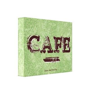 Retro Vintage Café-Leinwand-Drucke Galerie Gefaltete Leinwand