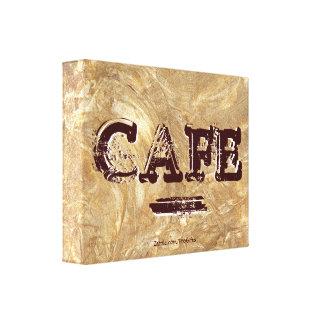 Retro Vintage Café-Leinwand-Drucke Galerie Falt Leinwand