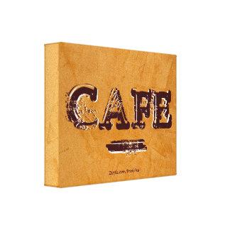 Retro Vintage Café-Leinwand-Drucke Gespannter Galeriedruck