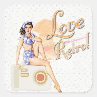 Retro Vintage Dame Stickers