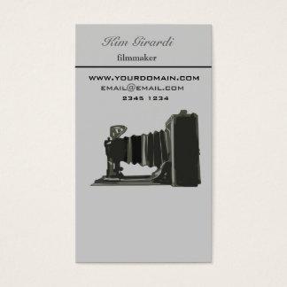 Retro Vintage Fotografie Filmaker Vertikale Visitenkarte